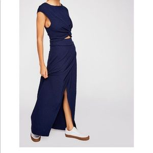 Two piece navy blue set